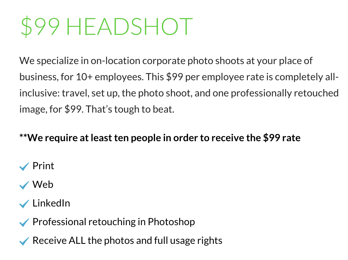 business-headshots-nyc-pricing - NYC Business Headshots
